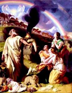 Noah's Sacrifice by Daniel Maclise