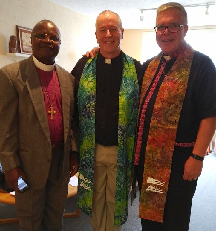 """Rev. Dr. Jensen Seyenkulo, Bishop of Lutheran Church of Liberia, Pastor Steve Johnston, Rev. Dr. Michael Pryse, Bishop, Eastern Synod/Evangelical Lutheran Church in Canada."""